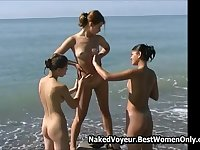 Amazing Girls Nudists Enjoy Time Well Spend In Beach