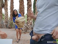 after a blowjob Kaylani Lei can't wait to jump on a hard penis