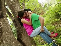 College Couple Din't Control Love In Forest Short Movie