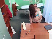 Medical fetish spycam fun with euro patient