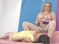 Slutty chicks plow the biggest strapons and spray ejaculate all around