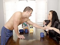 Gorgeous juggy mommy Reagan Foxx is fucked hard by horny stepson