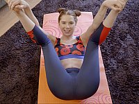Seducing daddy with yoga