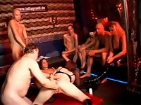 Huge Hole Slut Tina Deeply Fisted in Sex Club