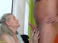 first time rough sex for 92 years old granny