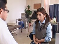 Adorable Jap teen gets her twat drilled during her Gyno exam
