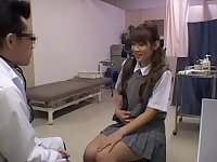 Lovely fingering during a hot pussy exam for a cute Asian