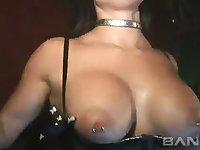 This party girl loves her huge tits and those eyes alone will lure you in