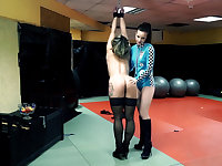 Tied up sub tortured by her Dominatrix