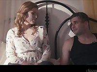 Naughty wife Ella Nova is cheating on her husband with his best friend