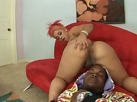 Chubby amateur doll getting nailed hardcore in an interracial sex