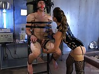 Felony wants to punish her handsome lover with BDSM sex game