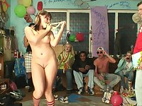 Group sex during a birthday party with charming girlfriend Natalii