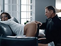 Sinful girl Gia Derza seduces priest and gets her anus slammed