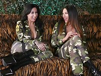 Army girls drop their clothes for anal - Lily Lane and Missy Martinez