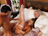 Erotic cuckold shows perfect wife taking dick with thirst