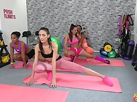 Yoga girls get turned on by sexy instructor Isabella Chrystin