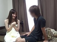 Loud and proud Asian Kitano Nozomi feigns shyness before sex